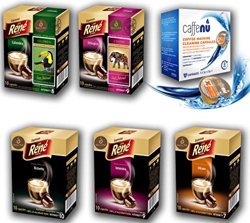 Bean2Pod: Rene Nespresso Compatible Coffee Capsules (RENE-TRIAL, 50+5)