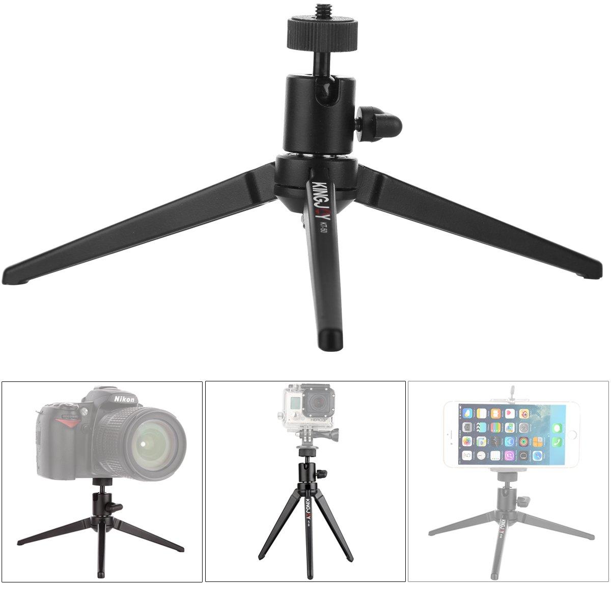 Mini Tabletop Portable Mini Webcam Tripod Legs Stand with Swivel Ball Head for Logitech Webcam C920 C922 DSLR Digital Camera Spotting Scope Projector