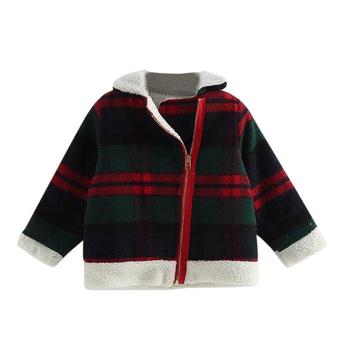 Kukul CRP-52 Abrigo para Niñas Otoño / invierno Chaqueta de cuadros de lana Ropa