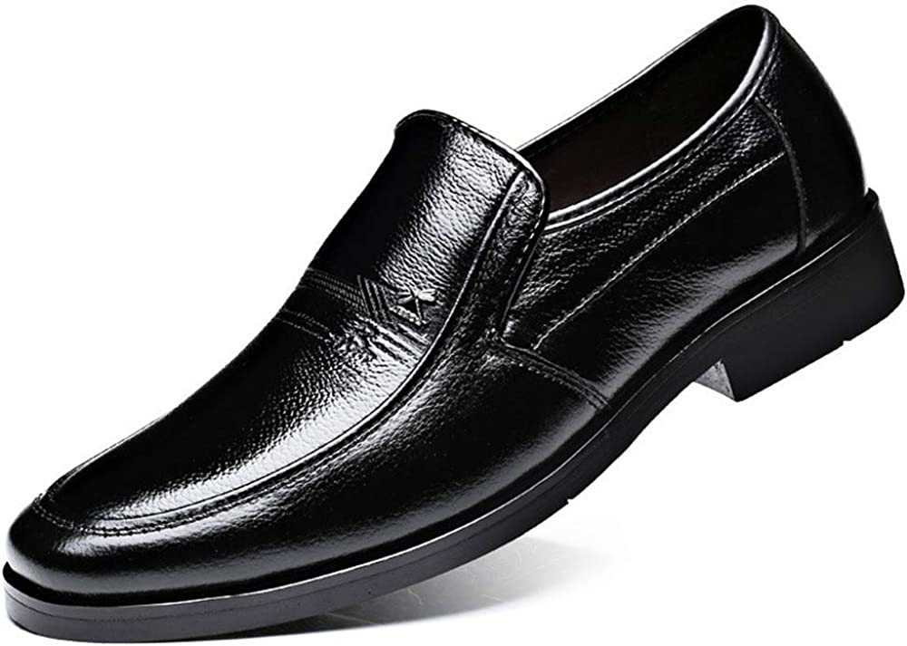 edv0d2v266 Mens Fashion Casual Leather Shoes Pointed Toe Business Suit Shoes Wedding Dress Shoes