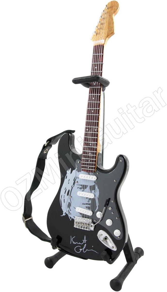 Miniature Guitar Kurt Cobain NIRVANA White /& Strap