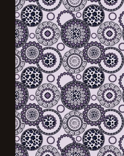Journal: Animal Print Mandala (Royal Blue and Purple) 8x10 - LINED JOURNAL - Journal with lined pages - (Diary, Notebook) (8x10 Mandala Design Lined Journal Series)