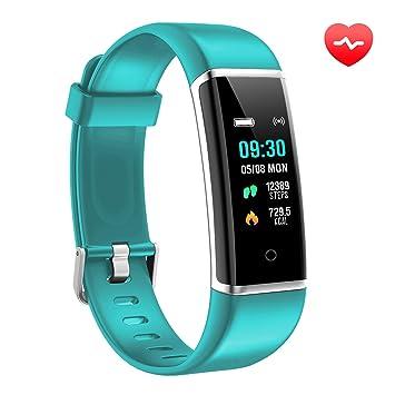AUSUN Montre Connectée Cardiofréquencemètre Bracelet Connecté FT901HR Podomètre GPS Fitness Tracker dActivité Smartwatch Sport