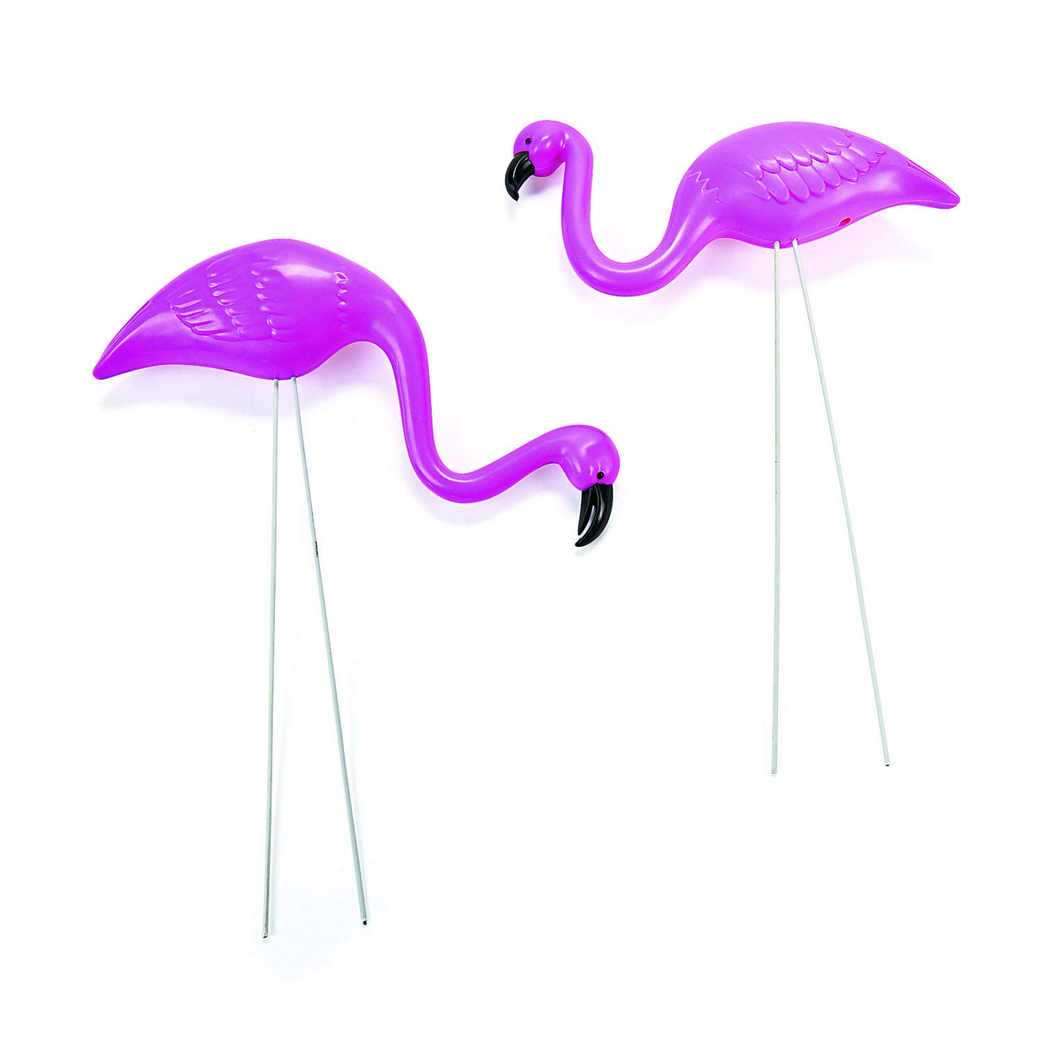 "Fun Express Mini Pink Flamingo Lawn Ornaments (2 Pieces, 8"" with 12"" Stakes) Lawn Decor, Unique and Quirky Home Decor & Gifts, Party Decorations"