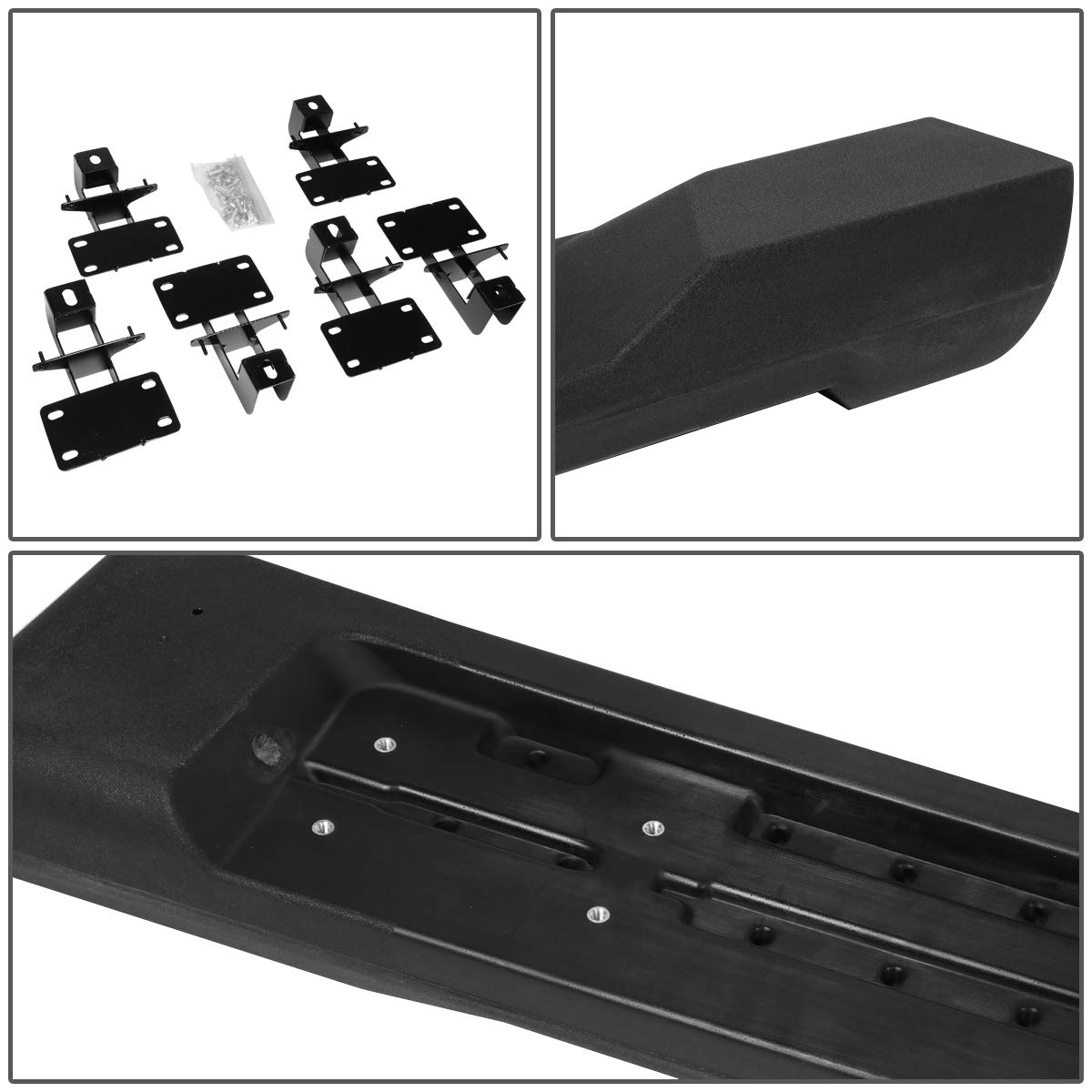 DNA MOTORING STEPB-ZTL-8106-BKPL Pair Factory Style Nerf Bar Side Step Running Boards Replacement