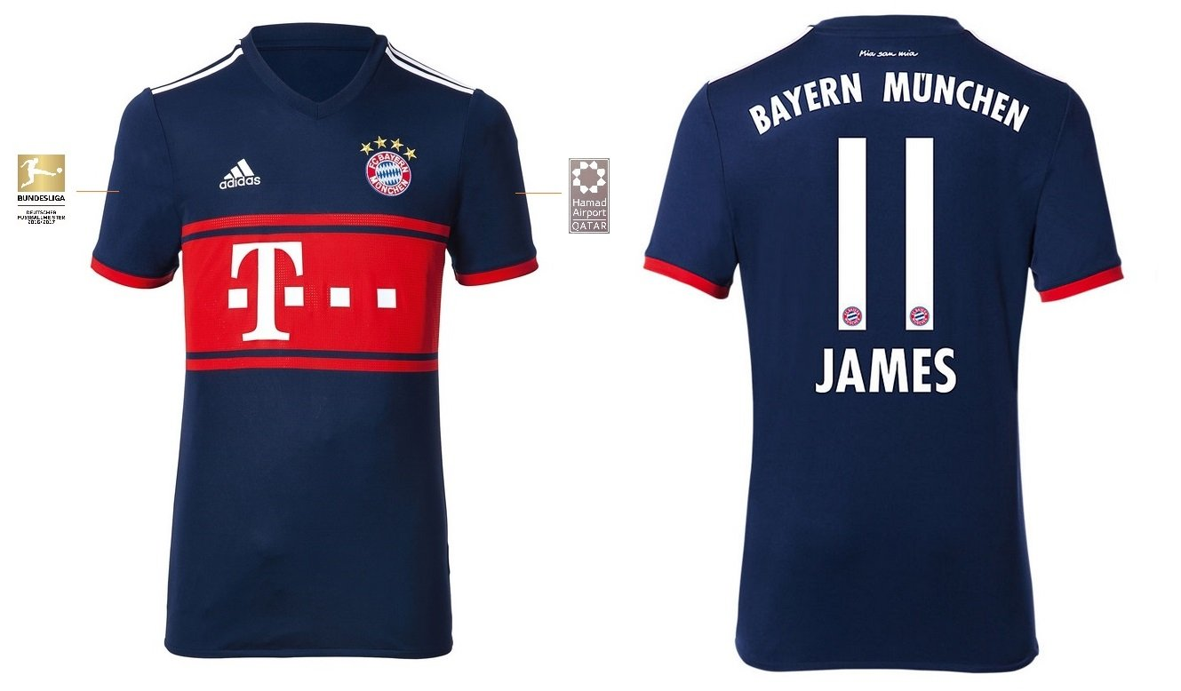 FCB Trikot Kinder 2017-2018 Away BL - James 11