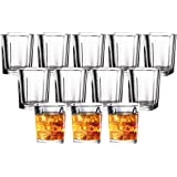 JOLLY CHEF Shot Glass Set with Heavy Base, 2 Ounce 20 Pack Tequila Shot Glasses, Clear Shot Glass for Whiskey and Liqueurs,Id