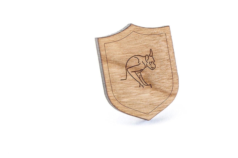 Wooden Pin Gargoyle Lapel Pin