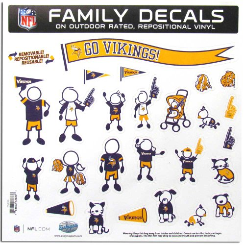 (NFL Minnesota Vikings Large Family Decal)