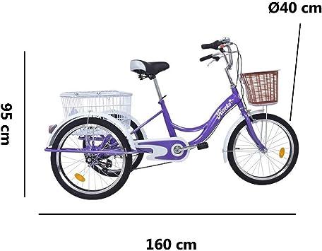 Riscko - Triciclo Adulto con Dos Cestas Bep-14 | Negro sin Montaje ...