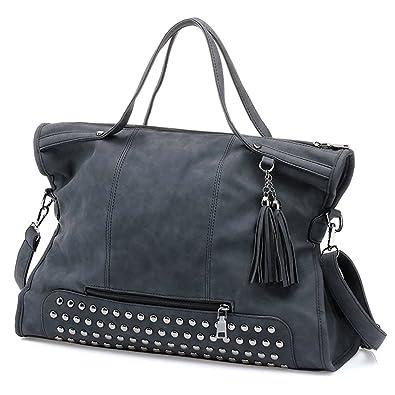 SiMYEER Women Top Handle Satchel Handbags Large Tote Purse ...