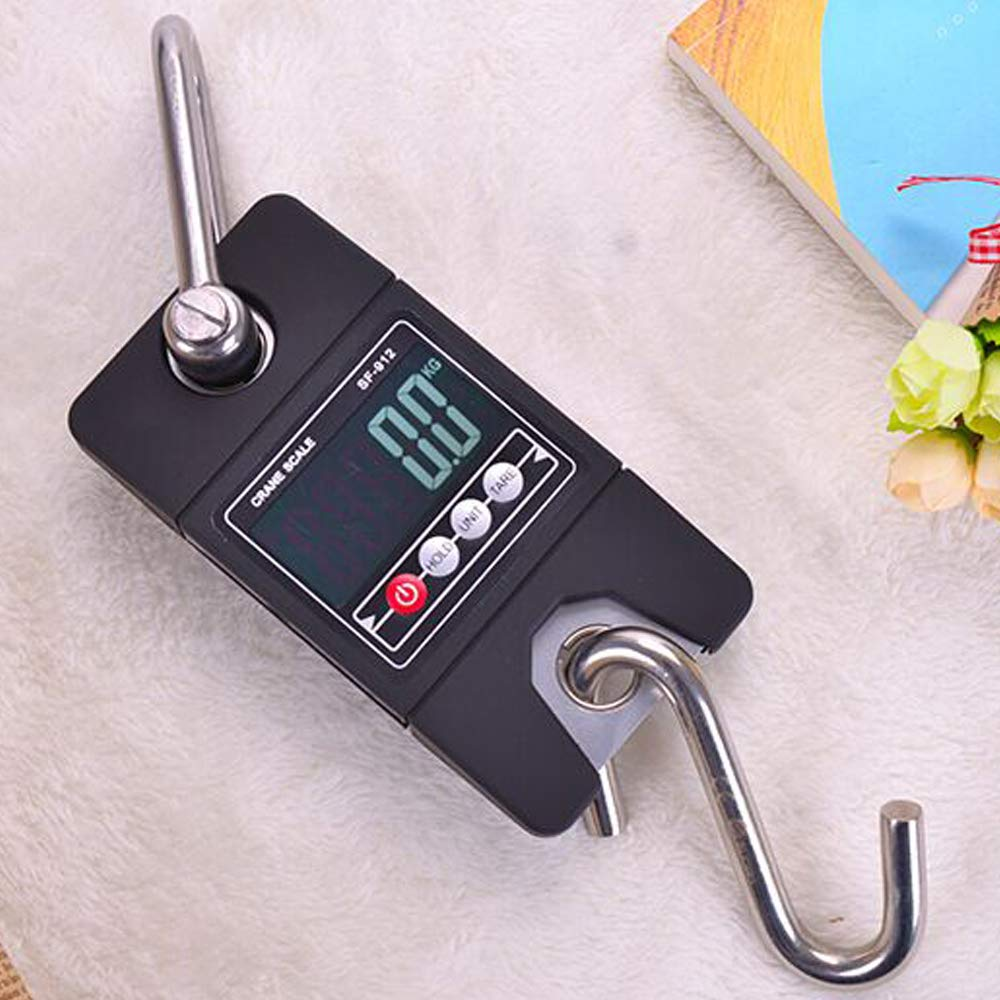 Festnight Creative Electronic Portable Hanging Mini Size 300KG Industrial Crane Handle Digital LCD Weight Hook Scale