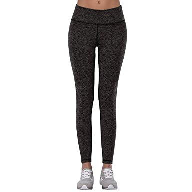 6059e63df989 HOVILLAGE Women s High Waist Yoga Pants Inner Pocket Non See-Through Fabric  (S