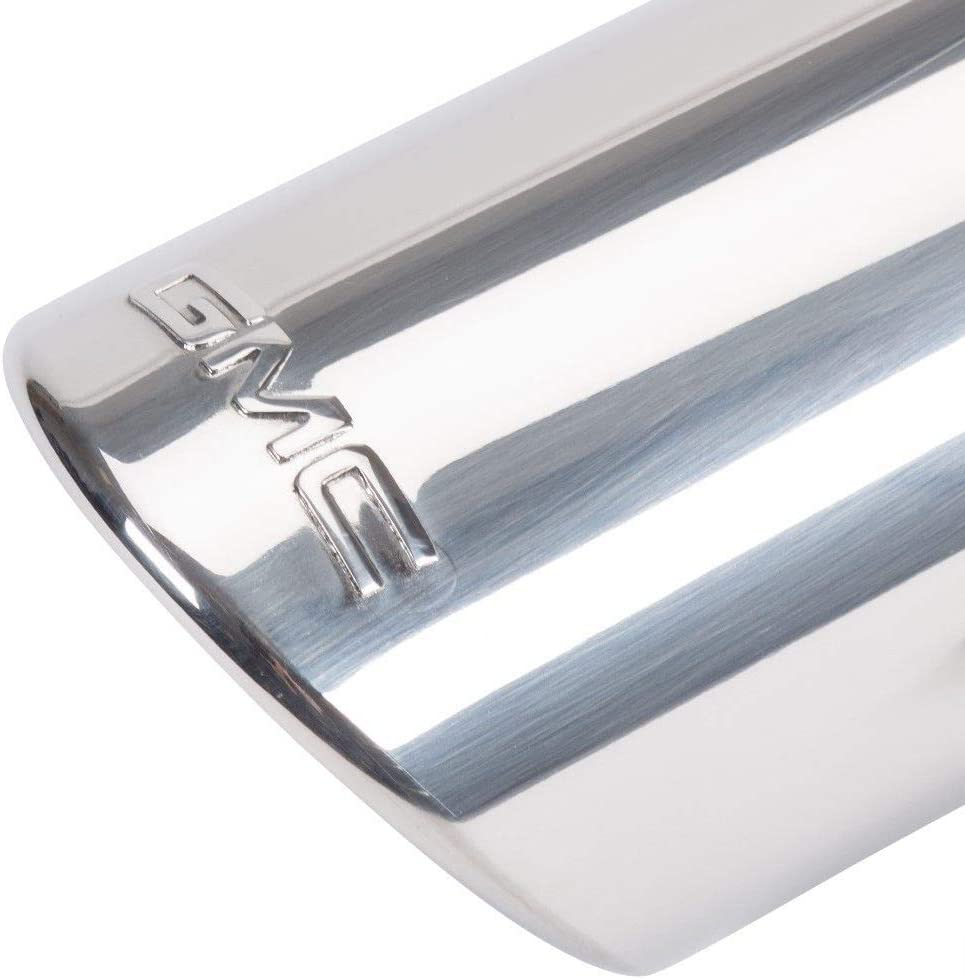 Angle Cut Dual Wall GM # 22799815 Exhaust Tip Highly Polished with GMC Logo
