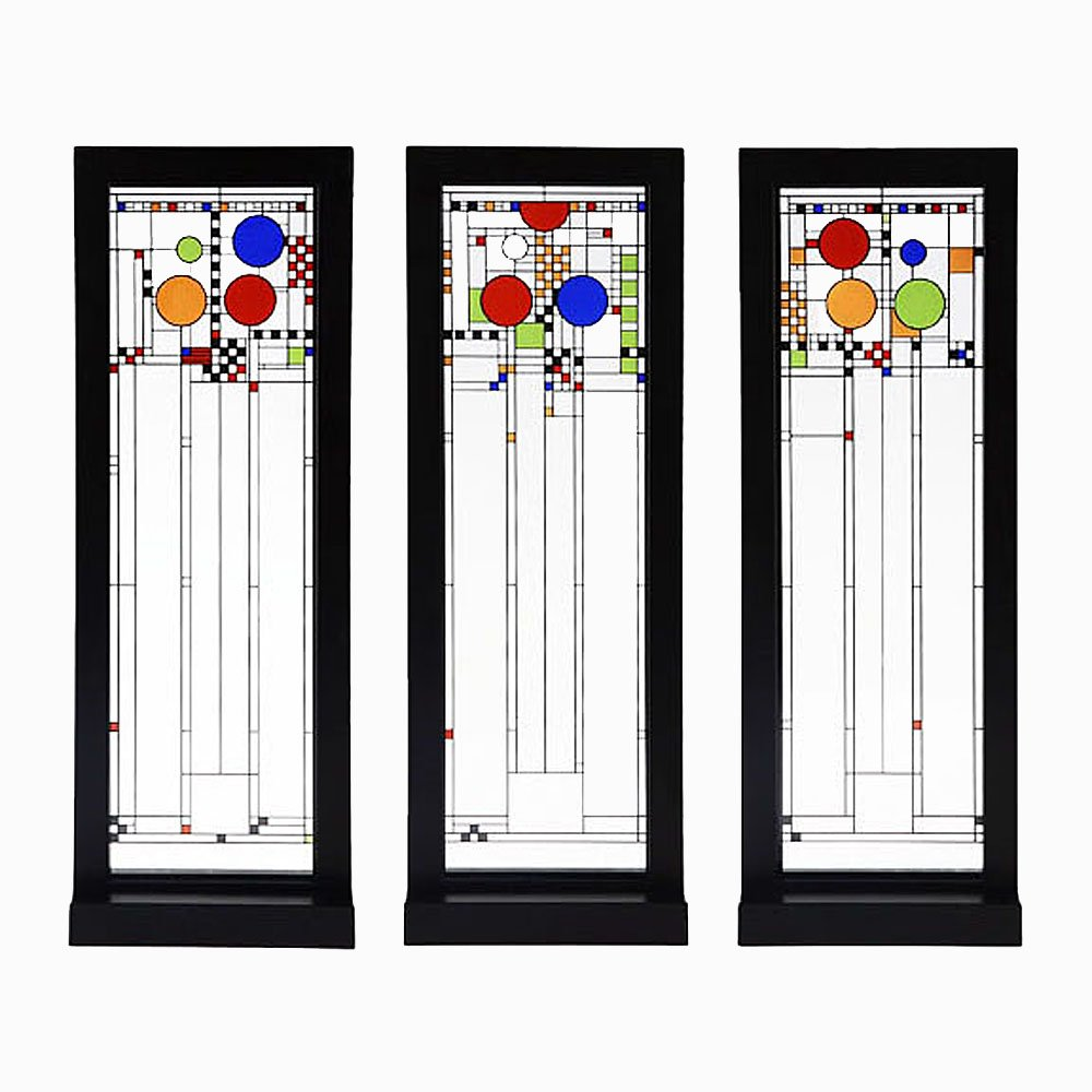Amazon.com: Frank Lloyd Wright Playhouse Set Of Three Stained Glass Panels:  Home U0026 Kitchen