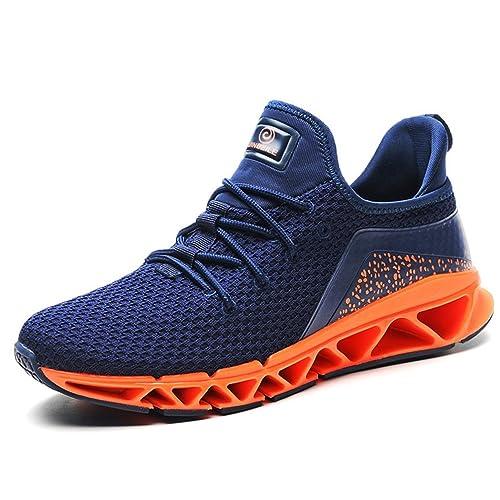 Chaussure Homme de Sneakers Mode pour Sport Amoureux Tissu Respirant Basket  Running Chaussons Léger Antidérapant Tendance 39-44(Recommandez la Taille  Un de ... d530c8f0137a