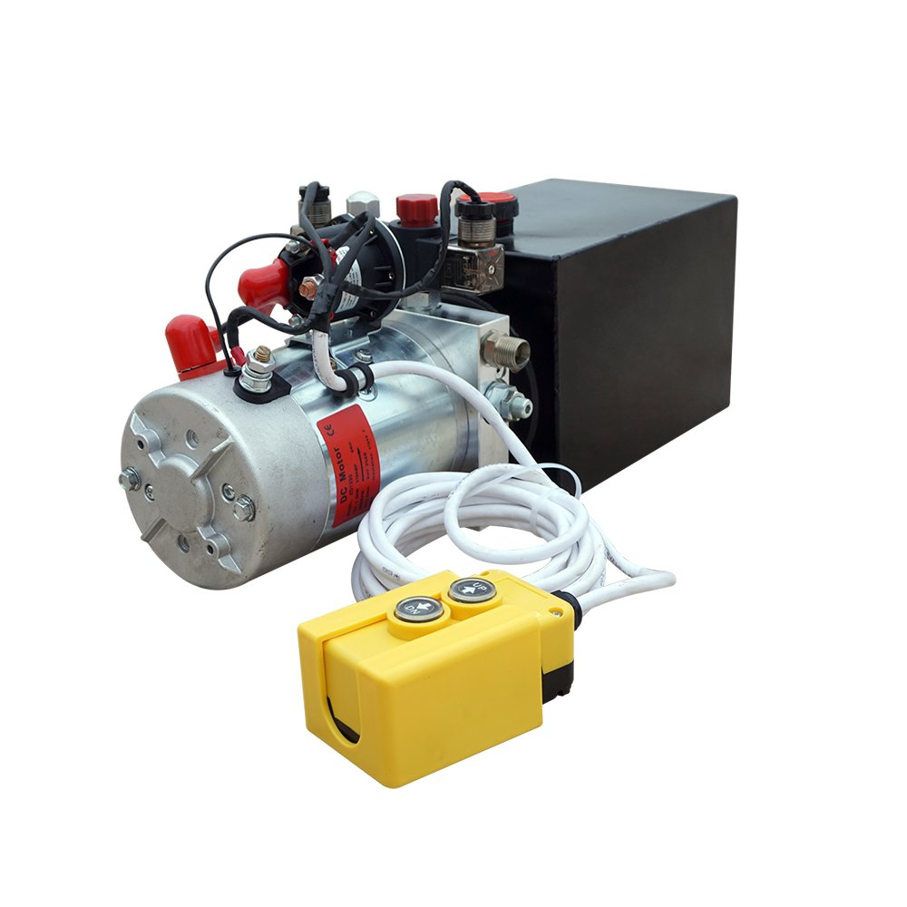 High Quality Double Acting Hydraulic Pump12V Dump Trailer- 6 Quart 3200 PSI Max.