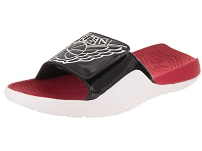 b3619585c63 Image Unavailable. Image not available for. Color  Jordan Mens Hydro 7 Black  White Gym RED ...