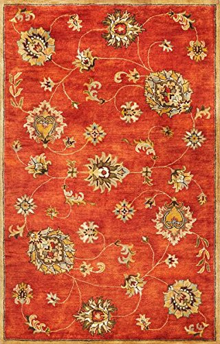 KAS Rugs 6008 Syriana Allover Mahal Area Rug, 8-Feet by 10-Feet 6-Inch, Sienna (Rug Sienna Burnt Wool)