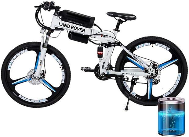 H&J Bicicleta de Ciudad eléctrica Plegable Bicicleta de batería ...