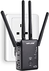 Wavlink AC1200 High Power Dual Band 2.4+5G 1200Mbps 3 in 1 Wireless AP/Router/WiFi Repeater Range Extender Internet Signal Booster Amplifier with 4 High Gain Antennas[Newest 2019]