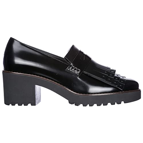 6381efe5f2a Hogan Mocasines EN Piel Mujer h277 Negro  Amazon.es  Zapatos y complementos