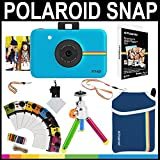 Polaroid Snap Instant Camera (Blue) + 2x3 Zink Paper (20 Pack) + Neoprene Pouch + Photo Frames + Accessory Bundle