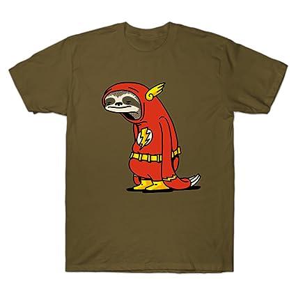 35d6173b Amazon.com: GUOHENG Men's Funny Sloth Shirt Flash The Neutral Funny Tshirt:  Clothing
