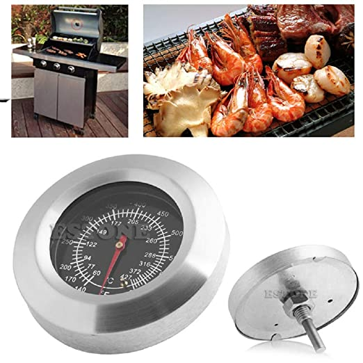 Fanst Temperature Tester,Stainless Steel BBQ Gauge Grill Thermometer Temp 60~427? 140~800 ? Barbecue