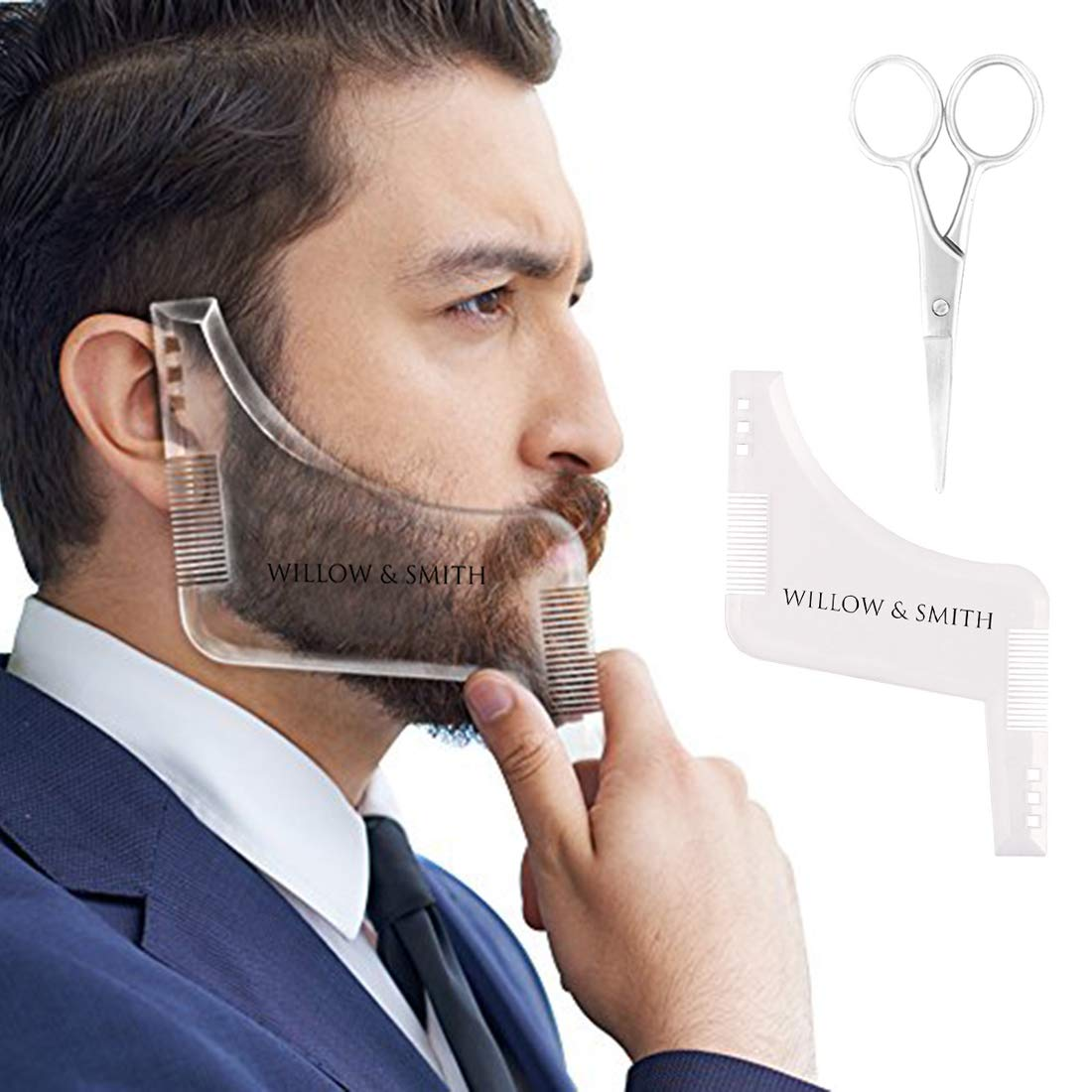 Willow & Smith Beard Shaping Template Plus Beard Comb With