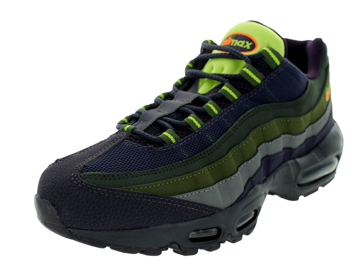 NIKE Men's Air Max 95 Premium Running Shoe B00DDZ4XUW 11.5 D(M) US|Cave Purple / Hyper Crimson / Rough Green