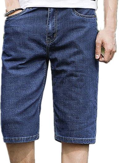 GIRLXV Slim Jeans - Negro - Hombre Verano Casual Pantalones Cortos ...