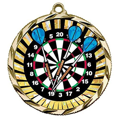Gold 1st Place ダーツメダル ネックリボン付き 022 B07HL7V2FR