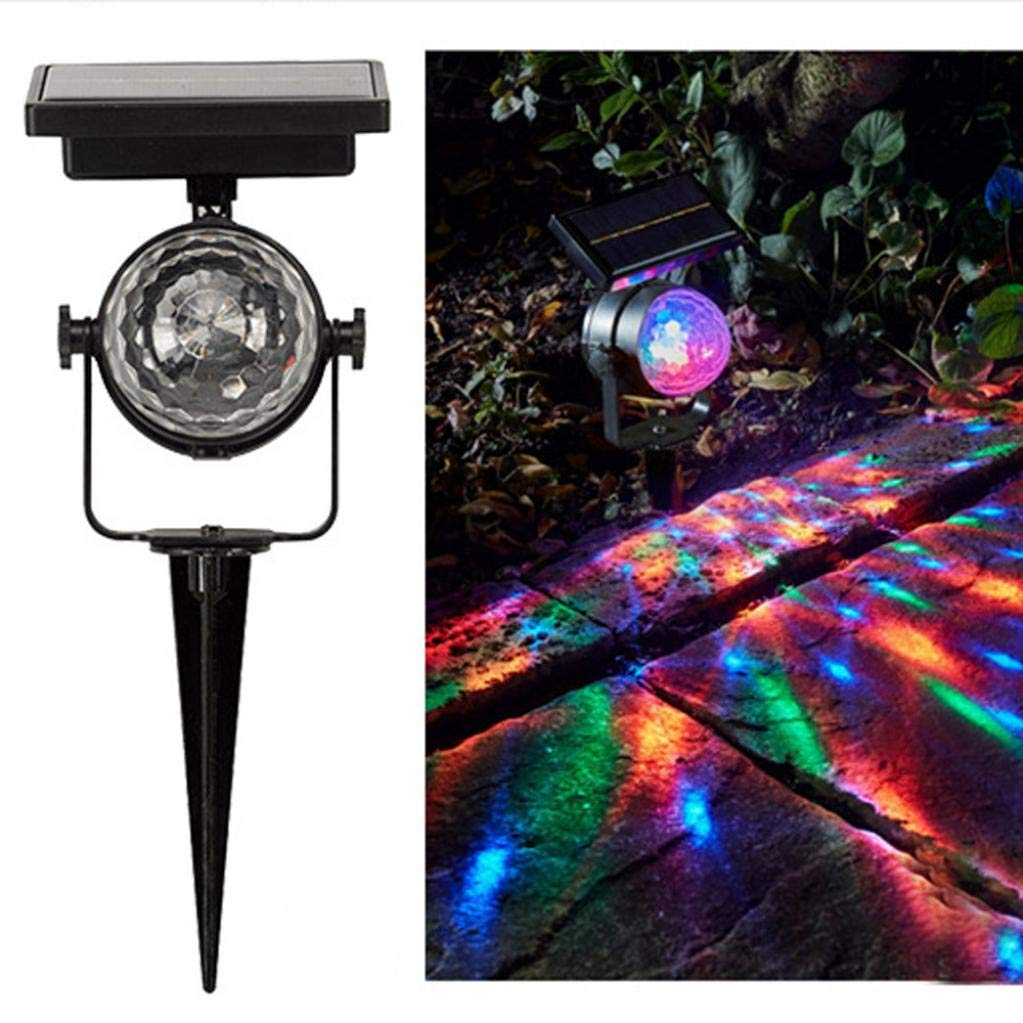 Yezijin Solar Garden Party Lights Outdoor Landscape Path Yard Rotating Projector Light