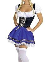 Que Sera Quesera Women's Oktoberfest Costume Bavarian Beer Girl Drindl Dress Halloween Costume