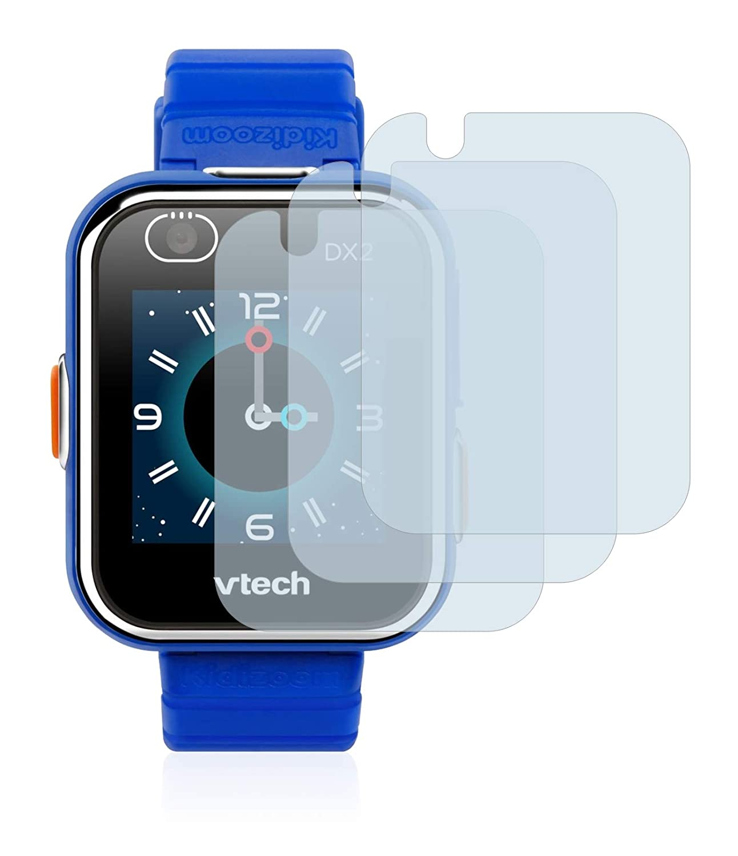 brotect Protector Pantalla Cristal Compatible con Vtech Kidizoom Smart Watch DX2 Protector Pantalla Vidrio (3 Unidades) Dureza 9H AirGlass