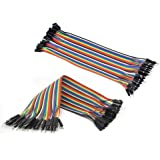 2Pcs 40pcs 20cm Male to Female Dupont line Color Breadboard cable Jumper Wire Jumpercable For Arduino