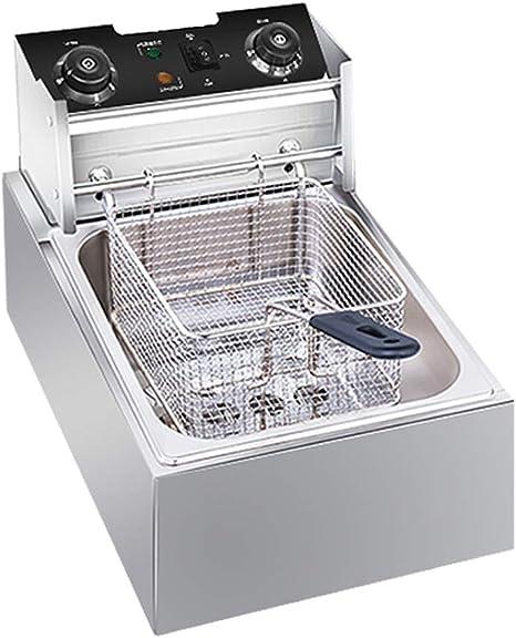 frying pan Freidora Eléctrica De 2500 W, Encimera Inteligente De Acero Inoxidable Y Sonda De Temperatura Dual, Tubo De Calentamiento De 5 Anillos / 5L: Amazon.es