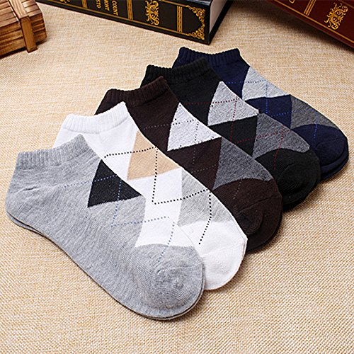 5Pair Fashion Hiphop Socks For Mens Gift Calcetines Unisex Socks Short Man Socks 5Color^White at Amazon Womens Clothing store: