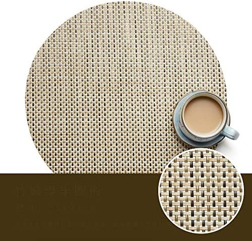 WJ Runde PVC-Platzdeckchen, ausgehöhlt, Westerngeschirr, Isolierung (enthält 6 Stück), grau, 2,35 x 31 cm