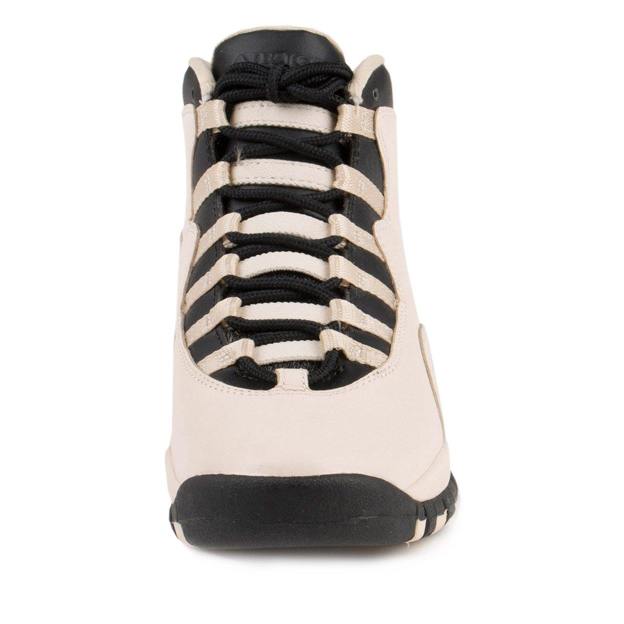 Jordan Nike Kids 10 Retro Prem GG Pearl White/Black/Black Basketball Shoe 6.5 Kids US by Jordan (Image #3)