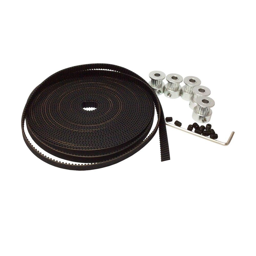 Open End RepRap MXL-6mm MXLTiming Belt 6mm Width 2mm Pitch for Pulley 3D Printer