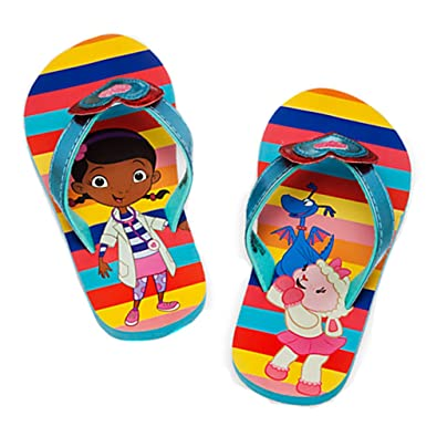 76efde177c96f Disney Doc McStuffins Little Girls Flip Flops (7 8)