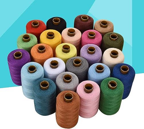 Supvox Hilos de coser en colores surtidos para acolchar Tapicería Abalorios Cortina 24 Carretes de 1000 yardas: Amazon.es: Hogar