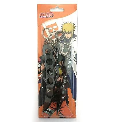 Naruto Sasuke anime Kunai Shuriken Ninja daga llavero Set EE ...