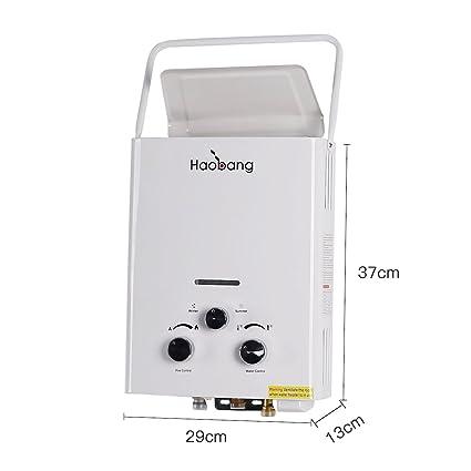 Haobang JSD12-J6 6L 12W De alta eficiencia Calentador de agua Gas (LPG)