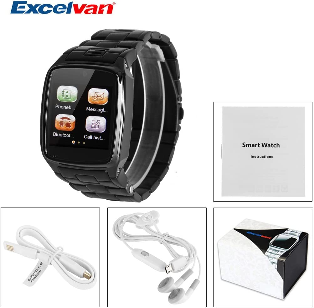 EXCELVAN PW1-S Reloj de Pulsera Smartwatch (Radio FM, 2G Sim ...