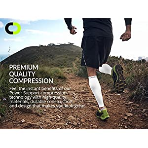 Calf Compression Sleeve (20-30mmHg) for Men & Women - BEST Calf Compression Socks for Running, Shin Splint, Calf Pain Relief, Leg Support Sleeve for Runners, Medical, Air Travel, Nursing, Cycling