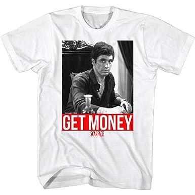 00d638c9f Amazon.com: A&E Designs Scarface Shirt Get Money T-shirt: Clothing
