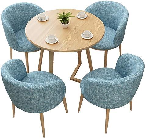 HUDEMR Juego de Mesa y sillas de Comedor La negociación de Mesa con 4 sillas Establece sólido de recepción de Madera Negociación Tabla de la Oficina para Office Salón Comedor Cocina: Amazon.es:
